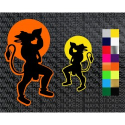 Hanuman with shankh stickers for cars, bikes, laptops, doors
