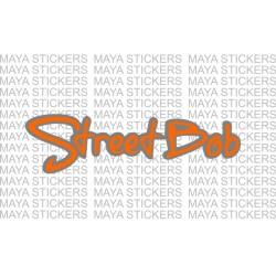 Harley Davidson street bob logo sticker in Dual color