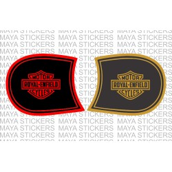 Harley Davidson style fuel tank sticker for Royal Enfield