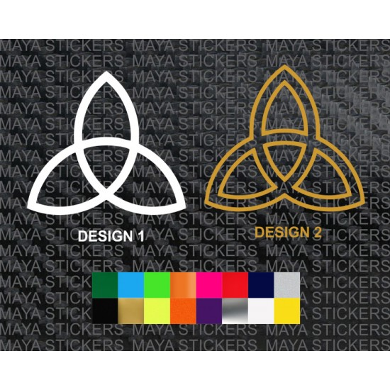 Holy Trinity Logo Sticker In Custom Colors And Sizes