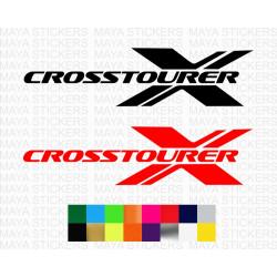 Honda crosstourer logo sticker for motorcycles and helmets