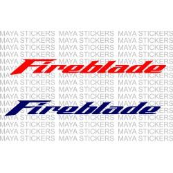 Honda fireblade logo stickers ( Pair of 2 )