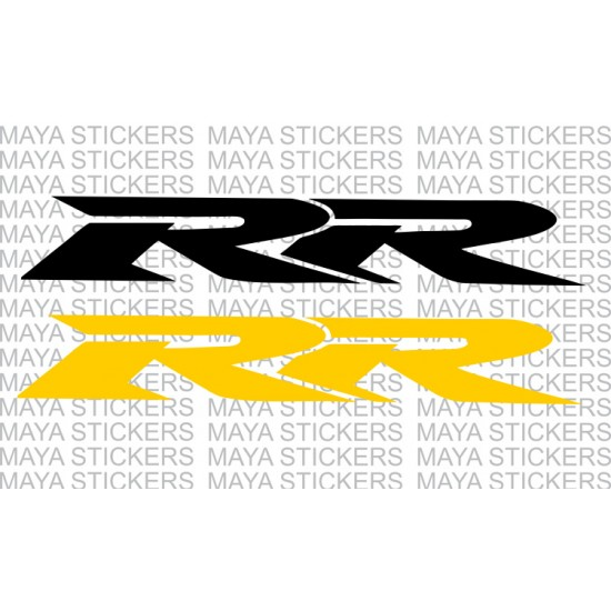 Honda rr logo stickers decal pair of 2