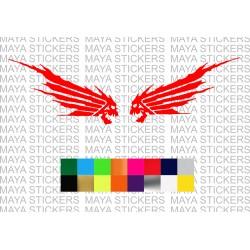 Honda wings logo with unique skull design