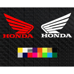 Honda two wheelers wings logo sticker for bikes and helmets