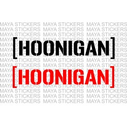 Hoonigan logo stickers for cars, motorcycles, bikes . (pair of 2 )