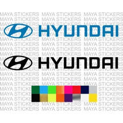 Hyundai logo stickers for cars