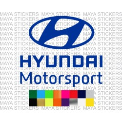 Hyundai Motorsports logo car stickers