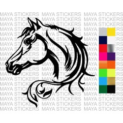 Beautiful ornamental horse sticker for cars, bikes, laptops