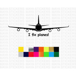 I fix Planes! decal stickers for cars, laptops and others