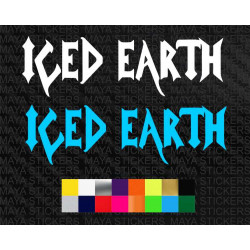 Iced earth music band logo sticker for cars, bikes, laptops and others