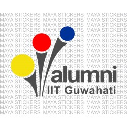 IIT Guwahati alumni logo sticker for cars, bikes, laptops
