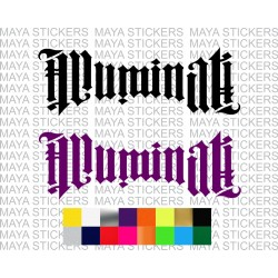 Illuminati logo stickers for cars, bikes, laptops