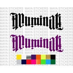 Illuminati logo stickers for cars, bikes, laptops