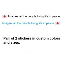 Imagine all the people living life in peace - John lenon quote sticker