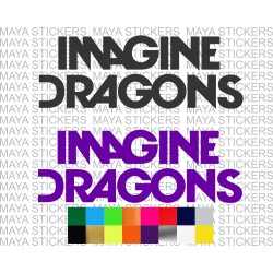 Imagine Dragons logo stickers for cars, bikes, laptops.