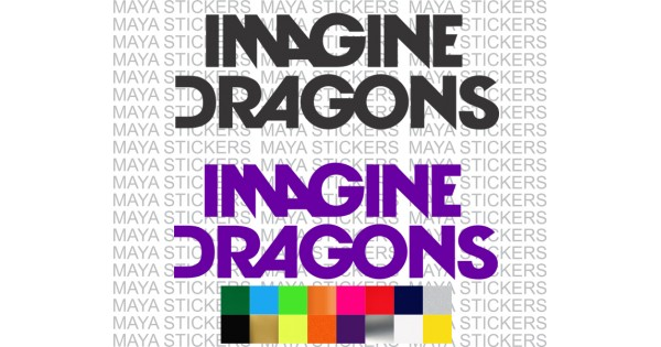 Imagine Dragons Pop Rock Band Decal Stickers In Custom Colors And Sizes