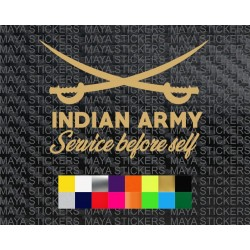 Indian army unique sword design sticker for cars, bikes, laptops and others