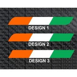 Indian flag stripe decal sticker for cars, bikes, laptops