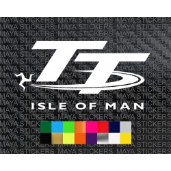 Isle of Man TT logo decal sticker for Bikes
