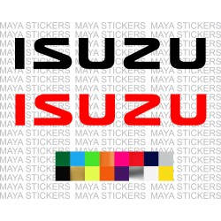 ISUZU logo sticker for cars