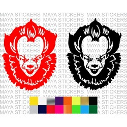 Scary IT movie bald Joker decal sticker for cars, bikes, laptops