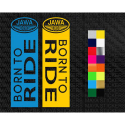 Born to ride sticker for Jawa Motorcycles fork