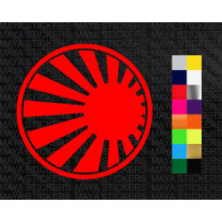Japanese Rising sun round flag JDM stikcer for cars, motorcycles and helmets