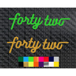 Jawa forty two logo sticker for motorcycles and helmets