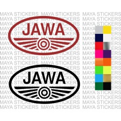 Jawa motorcycles logo decal sticker for bikes, helmets, mobiles