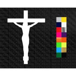 Jesus crucifix decal sticker for cars, bikes, laptops, door