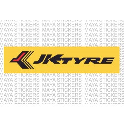 JK tyres logo sticker for cars and bikes