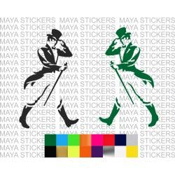 Johnnie walker new logo decal sticker for cars, bikes, laptops, mobile