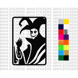 Joker playing card decal sticker for cars, bikes, laptops