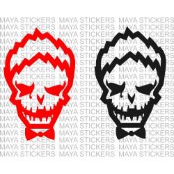 Joker suicide squad decal sticker  in custom colors ( Pair of 2 stickers )