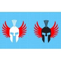 Jorge lorenzo spartan logo stickers