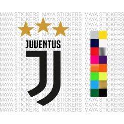 Juventus FC new logo sticker for bikes, cars, laptops