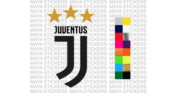 Juventus FC new logo sticker for bikes, cars, laptops