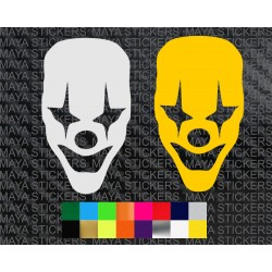 Jocker face decal sticker for cars, bikes, laptops, mobile and helmets