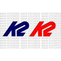 K2 sports logo decal stickers