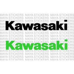 Kawasaki logo decal stickers in custom colors and sizes
