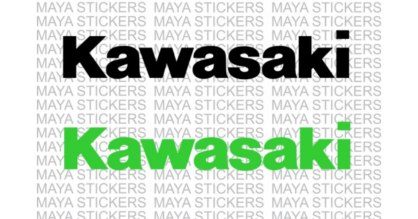 Kawasaki Logo Stickers For Motorcycles Helmets Laptops