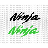 Kawasaki Ninja logo stickers / decals. (Pair of 2 in custom colors)