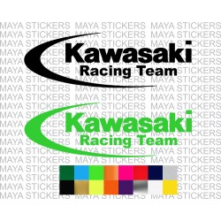 Kawasaki racing logo sticker for bikes and helmets