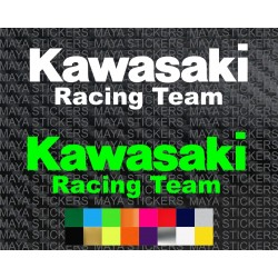 Kawasaki racing team logo decal sticker for motorcycles and helmets