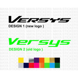 Kawasaki versys old and new design logo sticker for motorcycles and helmets