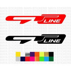 KIA GTline logo sticker for cars