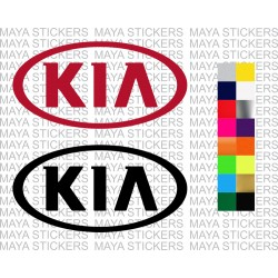 Kia logo stickers in custom colors and sizes