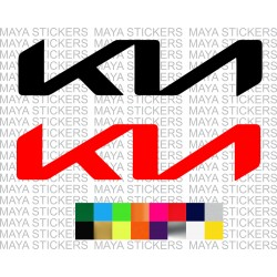 New Kia logo decal sticker
