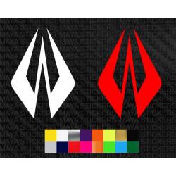 Kimi Raikkonen logo sticker for cars, bikes, laptops, helmets